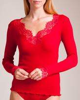 Dana Pisarra Lione Wool/Silk Long Sleeve Top