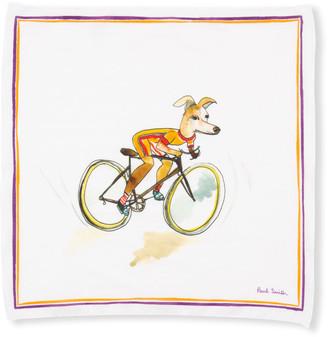 Paul Smith Men's Watercolor Dog Cycle Handkerchief