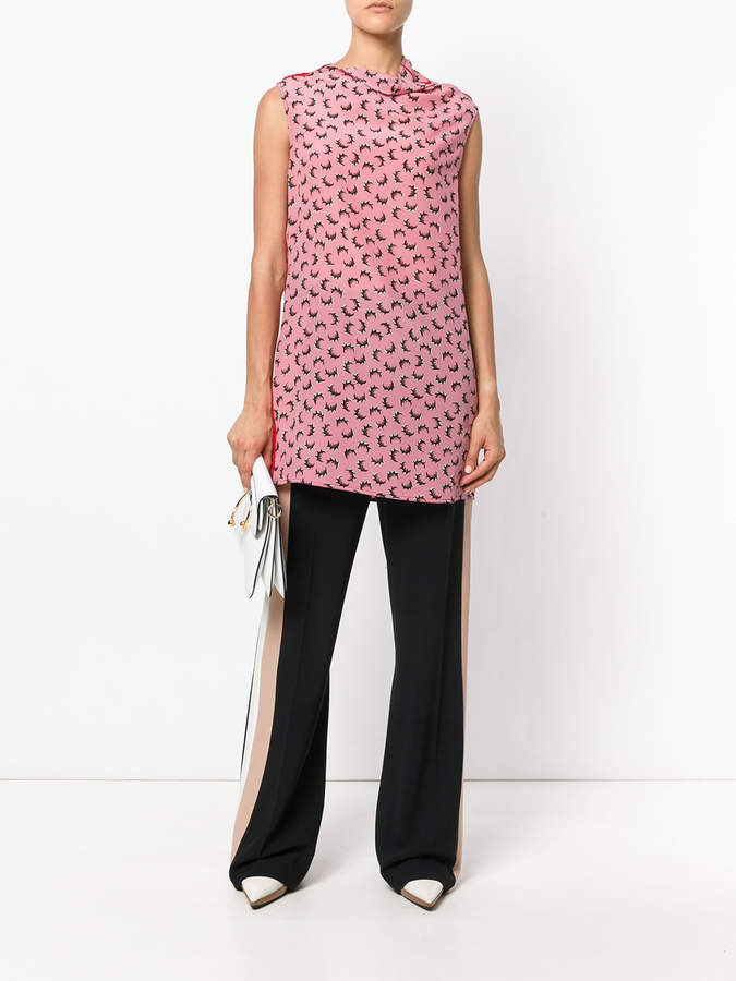 Marni asymmetric cowl neck top
