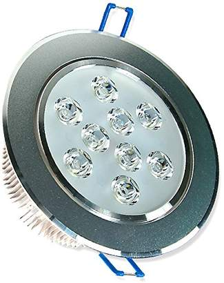 LED spot recessed light, 9 W, round ceiling light, one piece, Cold White, 1 item