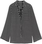 Marissa Webb Abby pleated striped silk blouse