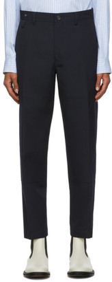 Lanvin Navy Wool Patch Chino Trousers