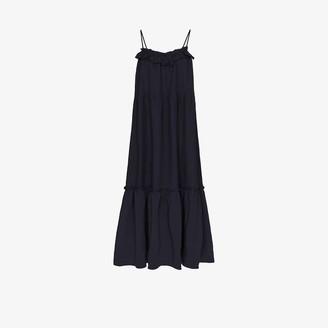 Araks Yasmin Ruffle Front Linen Midi Dress