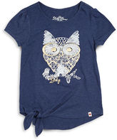 Lucky Brand Girls 7-16 Owl Tee