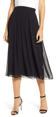 Anne Klein Pleated Chiffon Skirt