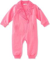 Calvin Klein Baby Girls' Lace-Collar Asymmetrical-Zip Coverall