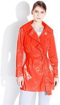 Mi Jong Lee Short Trench-Style Raincoat