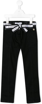 Givenchy Kids Bow Belt Trousers