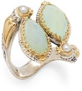 Konstantino Amphitrite 3MM White Pearl, Agate, 18K Yellow Gold & Sterling Silver Ring