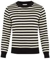 Ami Striped Wool Sweater