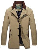 HengJia Men's Casual Fashion Cotton Jacket Coat Slim Fit Trench Coat X-Large