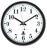 The Chicago Lighthouse Wall Clock with Cubicle Mounting Tape and White Dial, 7-1/2-Inch