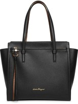 Salvatore Ferragamo Amy M black leather tote bag