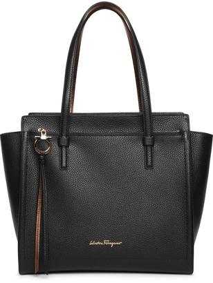 Salvatore Ferragamo Amy M black leather tote bag