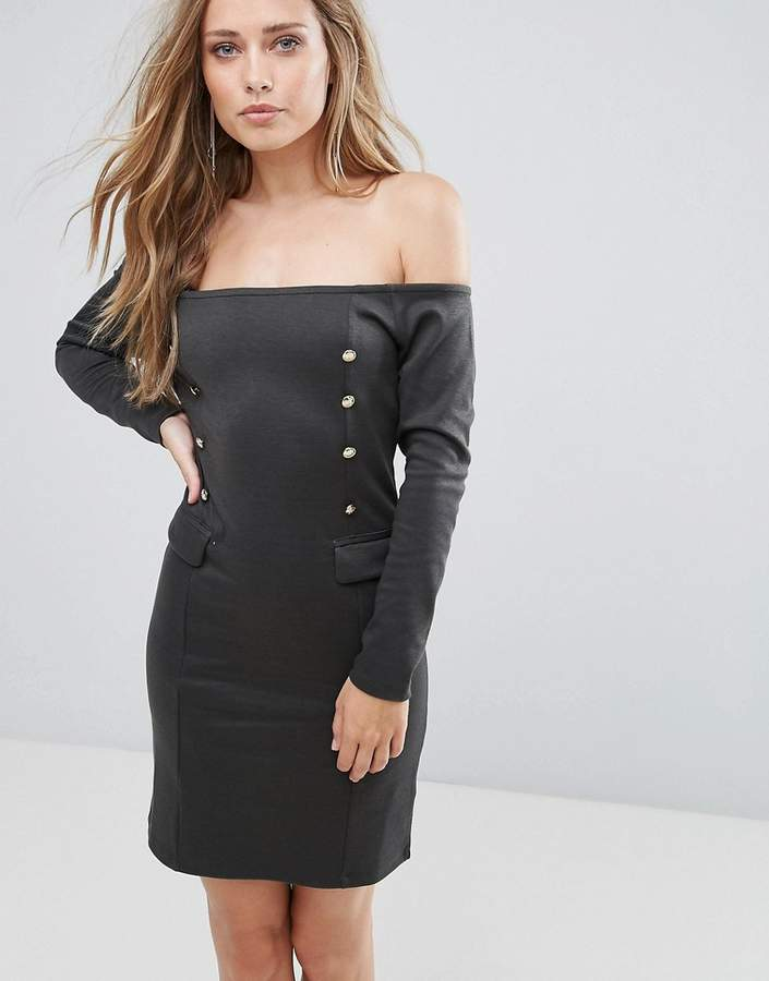Supertrash Dourney Double Breasted Detail Dress