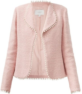 Giambattista Valli Embellished Cotton-blend Boucle Suit Jacket - Light Pink