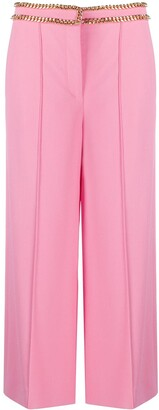 Moschino Chain-Trim Cropped Trousers