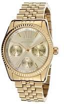 Michael Kors MK5808 Women's Mini Lexington Gold Dial Gold Plated Steel Bracelet Watch