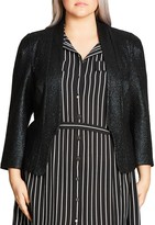 City Chic Shimmer Jacket