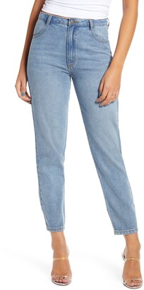 ENGLISH FACTORY High Waist Ankle Jeans