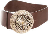 Blumarine Embellished Leather Belt