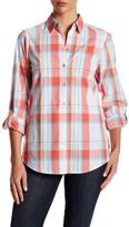 Foxcroft Roll Tab Plaid Shirt