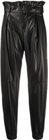 Liu Jo faux leather tapered trousers