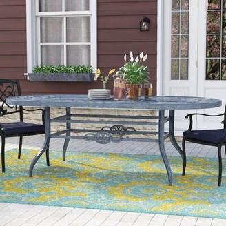 Darby Home Co Vandyne Metal Dining Table