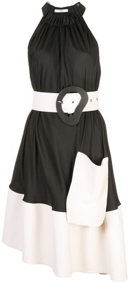 Tibi Belted Draped Dress