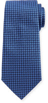 Armani Collezioni Neat Woven Pinwheel Silk Tie, Blue