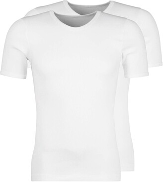 Huber Men's Duo Line 2: 2 Rippe Shirt Kurzarm 2er Pack Vest