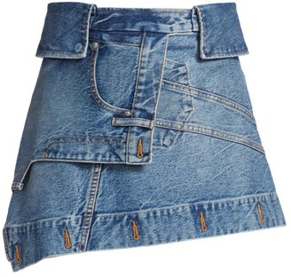 Alexander Wang Deconstructed Denim Mini Skirt