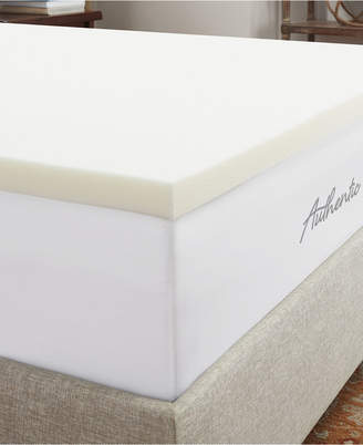 """Authentic Comfort 1.5"""" Breathable Memory Foam Twin Xl Mattress Topper"""