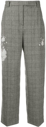 Boutique Moschino Checked Straight Leg Trousers
