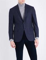 Corneliani Prince of Wales check tailored-fit wool jacket