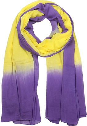 Mila Schon Purple and Yellow Cotton Stole