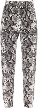 ATTICO Python Print Denim Trousers