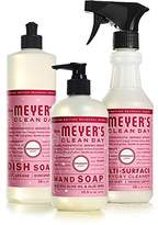 Mrs. Meyer's Mrs Meyers Peppermint Kitchen Basics Bundle: 3 items - (1) Dish Soap, (1) Hand Soap, (1) Everyday Cleaner