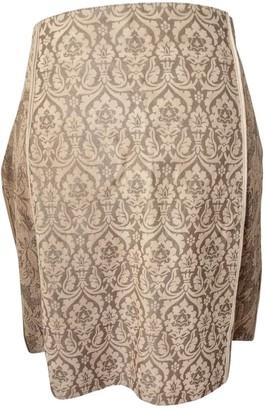 Roberto Cavalli Camel Suede Skirt for Women