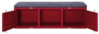 Yah Metal Storage Bench Mason & Marbles Color: Red