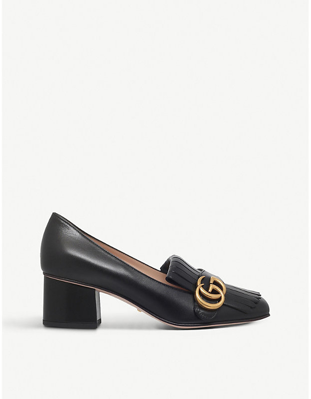 cbb10eac Marmont 55 leather mid-heel loafers
