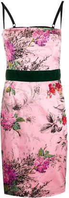 Dolce & Gabbana Pre Owned Floral Print Fitted Dress