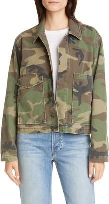 TRAVE Jane Camouflage Denim Utility Jacket