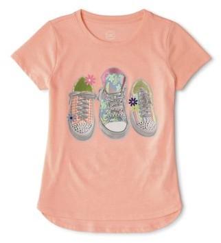 Wonder Nation Girls 4-18 & Plus 3D Embellished Graphic T-Shirt
