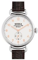 Shinola Women's The Canfield Alligator Strap Watch, 38Mm