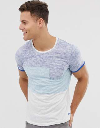 Esprit t-shirt in colour block-Blue