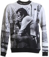Dolce & Gabbana James Dean Printed Grey Cotton Sweater