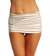 DKNY City Lines Draped Swim Skirted Bikini Bottom 8115479
