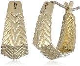 Cole Haan Etched Basket Weave Huggie Hoop Earrings