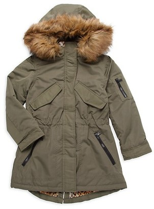 Urban Republic Girl's Faux Fur-Trim Anorak Jacket